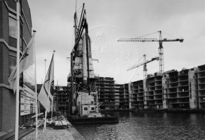 Bouw van het complex in 1979. (Gemeentearchief Rotterdam)