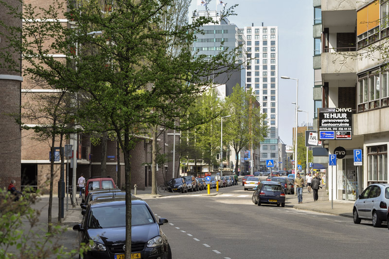 Blik richting het centrum in april 2009. (Foto: Arthur van Beveren)