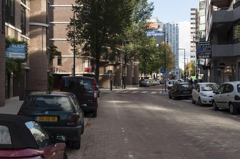 Blik over de Glashaven richting het stadscentrum begin oktober. (Foto: Arthur van Beveren)