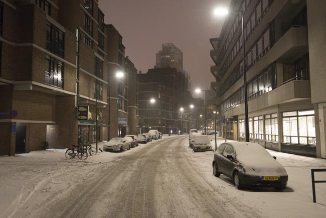 Leuvekwartier in de sneeuw, Glashaven