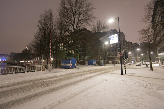 Leuvekwartier in de sneeuw