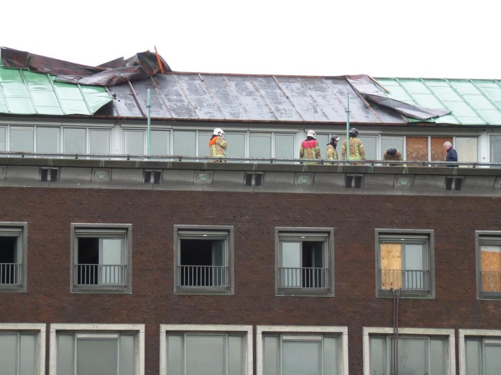 Pas toen de storm afnam was het mogelijk de schade ter plekke  op te nemen