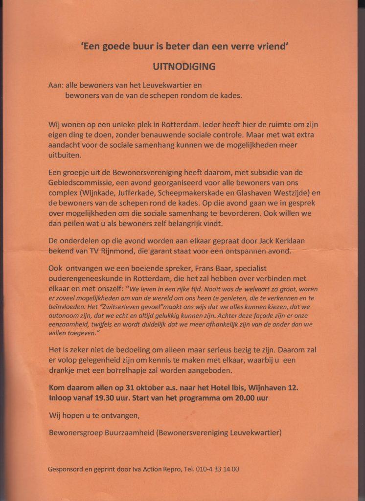 Bijeenkomst Buurzaamheid Leuvekwartier @ Hotel Ibis   Rotterdam   Zuid-Holland   Nederland